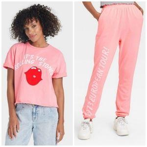 The Rolling Stones Sweatpants & T-Shirt Set M NWT